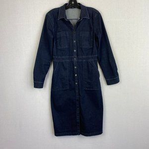 ANN TAYLOR Denim Shirt Dress